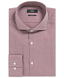 BOSS Men's Slim-Fit Houndstooth Cotton Dress Shirt