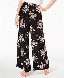 Jill Jill Stuart Floral-Print Wide-Leg Pants, Created for Macy's