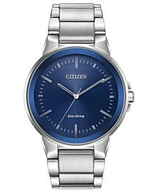 Men's Eco-Drive Axiom Stainless Steel Bracelet Watch 41mm