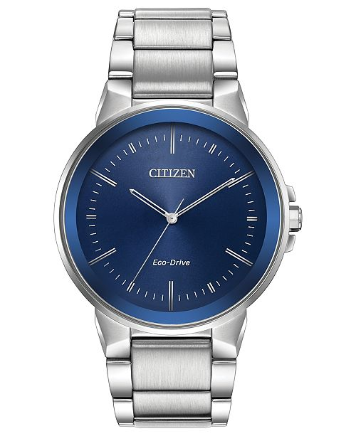 46b4c5ee4e1065 Citizen Men's Eco-Drive Axiom Stainless Steel Bracelet Watch 41mm ...