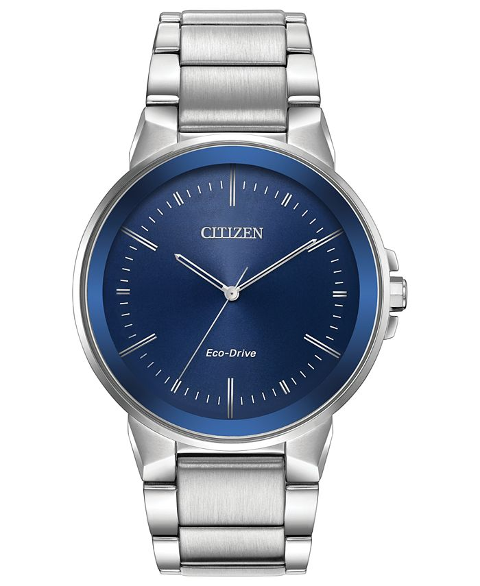 Citizen - Men's Eco-Drive Axiom Stainless Steel Bracelet Watch 41mm