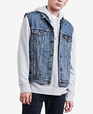 Levi S Men S Denim Trucker Vest Coats Jackets Men Macy S
