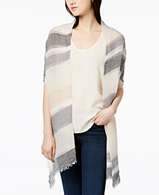 I.N.C. Multi Stripe Pleated Wrap, Created for Macy's