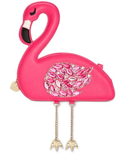 Betsey Johnson Flamingoals Small Crossbody
