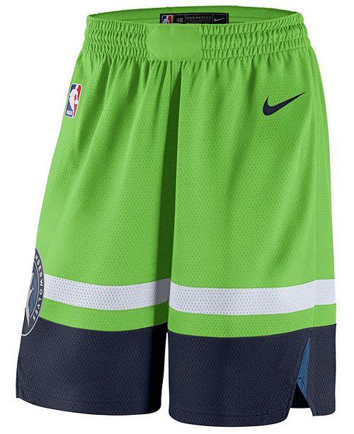 Nike Men S Minnesota Timberwolves Statement Swingman Shorts