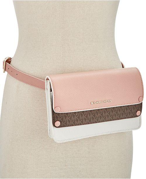 ec02a4d0b2b3 Michael Kors Double-Flap Belt Bag & Reviews - Handbags ...