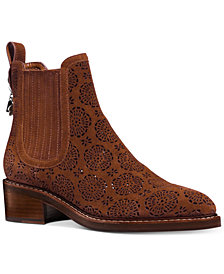 COACH Bowery Suede Booties
