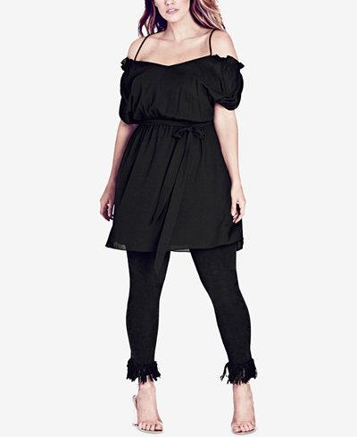 City Chic Trendy Plus Size Cold-Shoulder Tunic