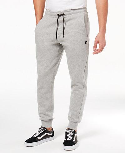 Volcom Men's Single Stone Relaxed-Fit Fleece Pants