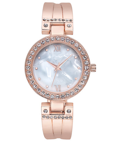 Charter Club Women's Rose Gold-Tone Bracelet Watch 32mm, Created for Macy's