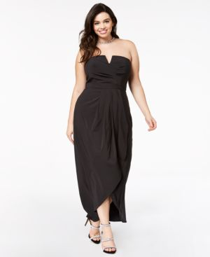 Image of City Chic Trendy Plus Size Draped Maxi Dress