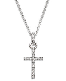 Swarovski Necklace, Crystal Cross Pendant