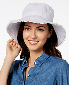 August Hats Cotton Frayed Edge Sun Hat