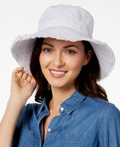 August Hats Cotton Frayed Edge Sun Hat