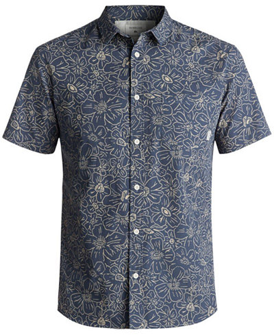 Quiksilver Men's Electric Daisy Button-Up Shirt - Casual Button ...