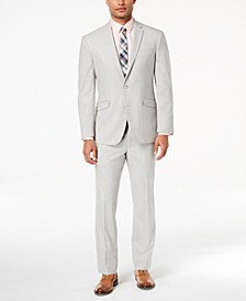 Men's Ready Flex Big and Tall Slim-Fit Stretch Light Gray Suit