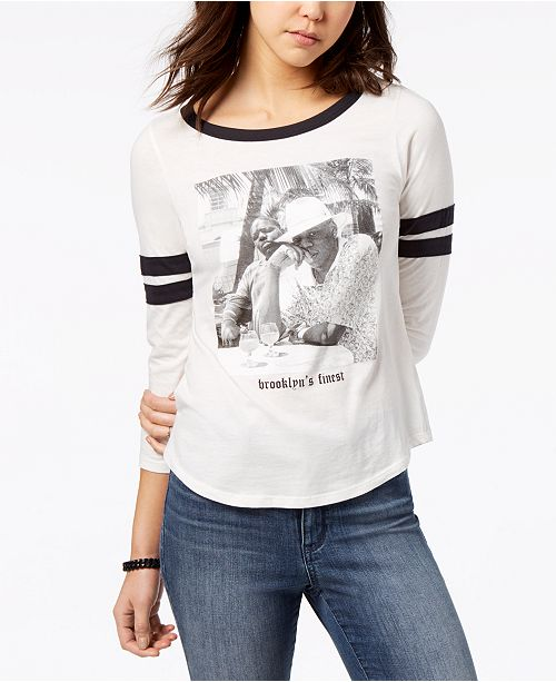 eb335aba7 ... T-Shirt; Merch Traffic Juniors' Jay Z & Biggie Graphic Ringer ...