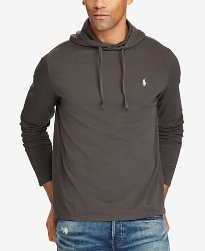 Polo Ralph Lauren Men's Big & Tall Hooded Long-Sleeve T-Shirt ...