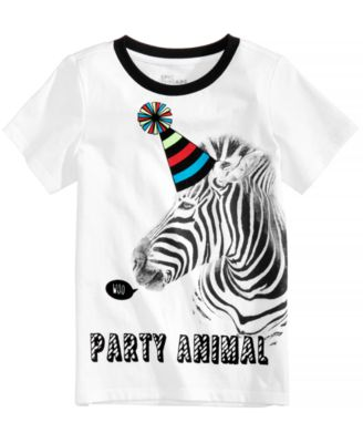 Party Animal Graphic-Print T-Shirt, Little Boys, Created for Macy's