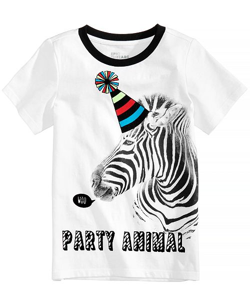 0eb68fc76 Epic Threads Party Animal Graphic-Print T-Shirt, Little Boys, Created for