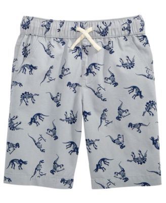 Dino-Print Cotton Shorts, Little Boys, Created for Macy's
