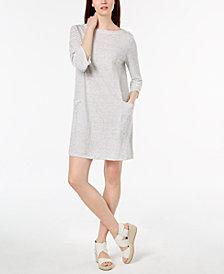 Eileen Fisher Organic Linen Bateau-Neck Shift Dress, Regular & Petite
