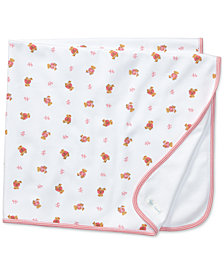 Ralph Lauren Baby Girls Reversible Bear Printed Blanket