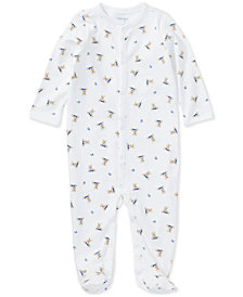 Ralph Lauren Printed Cotton Coverall, Baby Boys