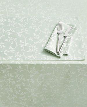"Homewear Belfort Leaves Green 84"" Tablecloth 5491236"