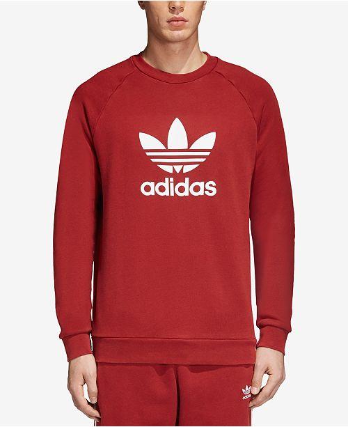 1dfd958a adidas Men's adicolor Trefoil Crewneck Sweatshirt & Reviews ...