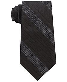 Calvin Klein Men's Cloud Stripe Silk Tie