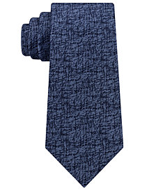 Calvin Klein Men's Etched Graphic Silk Tie
