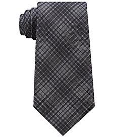 Calvin Klein Men's Hi Rise Grid Silk Tie