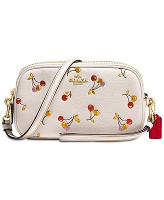COACH Small Crossbody with Cherries Print