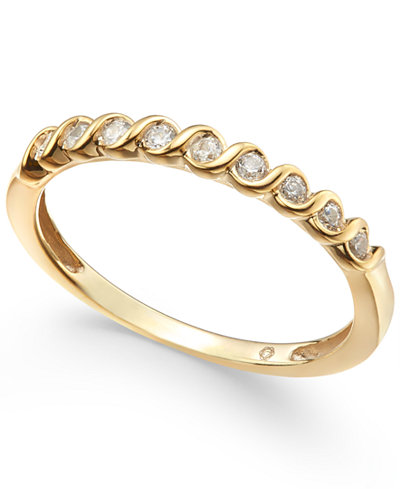 Diamond S-Curve Stack Ring (1/6 ct. t.w.)