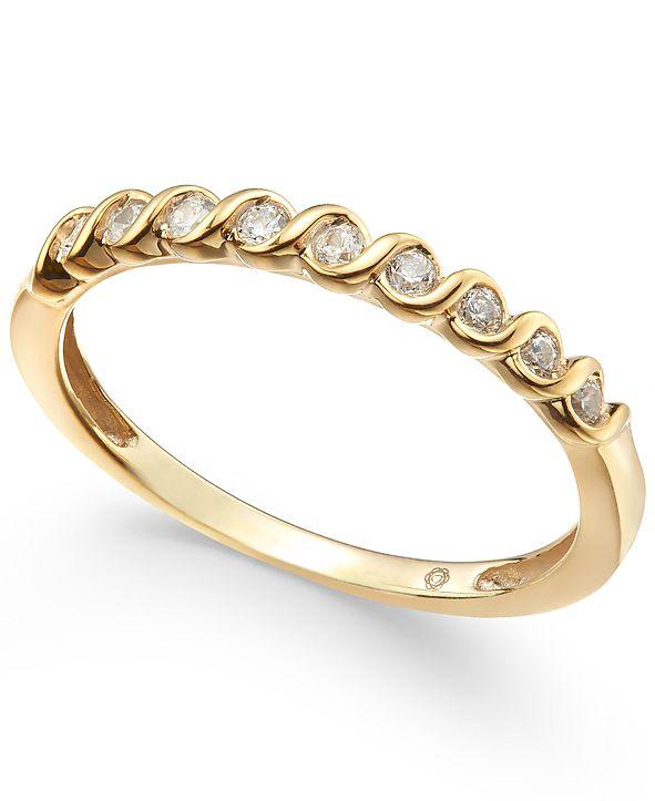 Macy's Diamond S-Curve Stack Ring (1/6 ct. t.w.)