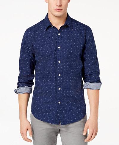 American Rag Men's Dot Print Shirt, Created for Macy's