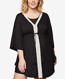 Motherhood Maternity Plus Size Swim Cover-Up