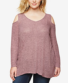 Motherhood Maternity Plus Size Cold-Shoulder Top