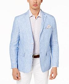Tallia Orange Men's Big & Tall Modern-Fit Blue Stripe Sport Coat
