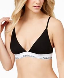 eaa6a89d41 Calvin Klein Modern Cotton Logo-Band Triangle Bralette QF1061
