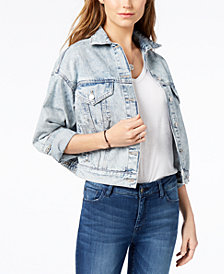 M1858 Kane Cropped Trucker Jacket, Created for Macy's