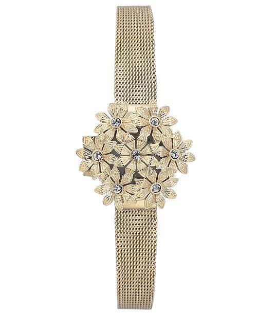 Anne Klein Women's Gold-Tone Stainless Steel Mesh Bracelet Watch 24mm