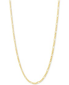 "Figaro Link Chain 22"" Necklace (2-3/8mm) in Solid 10k Gold"