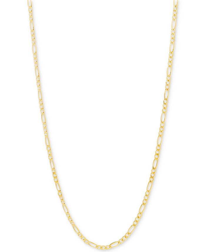 Italian Gold - Figaro Link Chain Necklace in 10k Gold