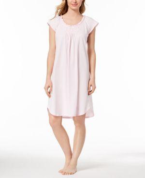 Miss Elaine Knit Ruffle-Trim Nightgown 5369535
