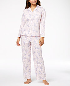 Charter Club Woven Cotton Pajama Set, Created for Macy's