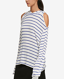 DKNY Cold-Shoulder Hoodie, Created for Macy's