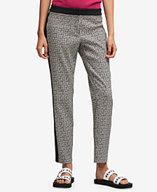 DKNY Tuxedo-Stripe Skinny Pants, Created for Macy's