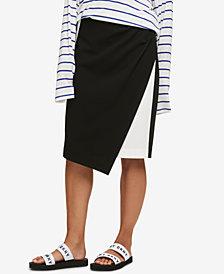 DKNY Asymmetrical Colorblocked Skirt, Created for Macy's